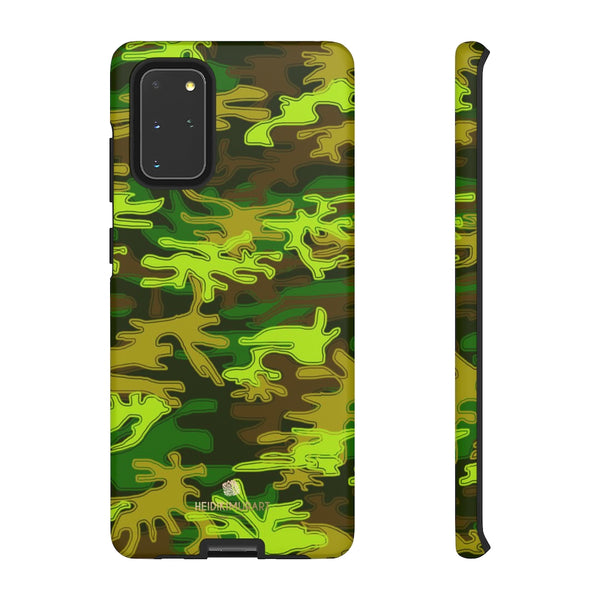 Green Camouflage Phone Case, Army Military Print Tough Designer Phone Case -Made in USA-Phone Case-Printify-Samsung Galaxy S20+-Matte-Heidi Kimura Art LLC