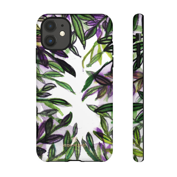 Tropical Leave Print Tough Cases, Designer Phone Case-Made in USA-Phone Case-Printify-iPhone 11-Matte-Heidi Kimura Art LLC