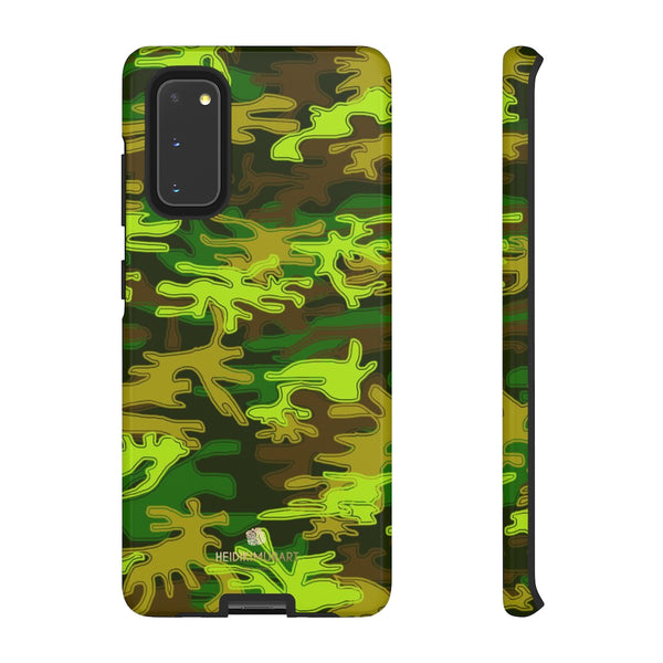 Green Camouflage Phone Case, Army Military Print Tough Designer Phone Case -Made in USA-Phone Case-Printify-Samsung Galaxy S20-Glossy-Heidi Kimura Art LLC