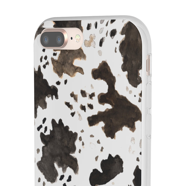 Cow Print Slim Flexible Wireless Charging Friendly iPhone Samsung Flexi Phone Cases-Phone Case-Heidi Kimura Art LLC