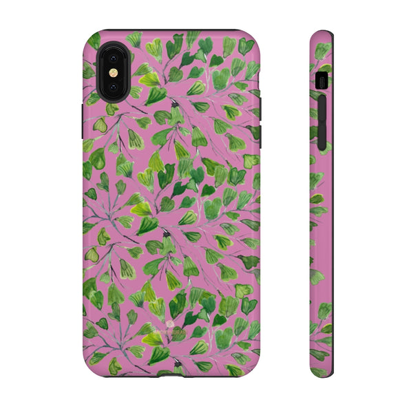 Blue Maidenhair Fern Tough Cases, Green Leaf Print Phone Case-Made in USA-Phone Case-Printify-iPhone XS MAX-Glossy-Heidi Kimura Art LLC