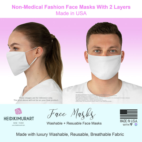 Grey Hearts Print Face Mask, Hearts Pattern Adult Modern Fabric Face Mask-Made in USA-Face Mask-Printify-MWW on Demand-One size-Heidi Kimura Art LLC