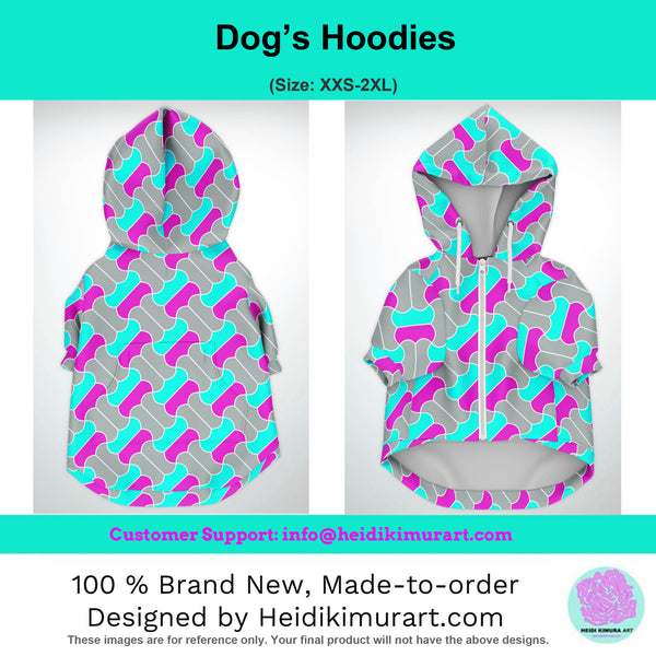Tiger Stripe Print Dog Hoodie, Soft Comfortable Zip-Up Premium Hoodie For Dog Pet Owners