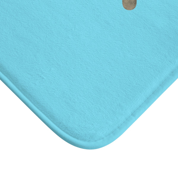 "Sky Blue ""Good Idea Becomes A Great Idea When You Let It Out"", Inspirational Bath Mat- Printed in USA-Bath Mat-Heidi Kimura Art LLC"