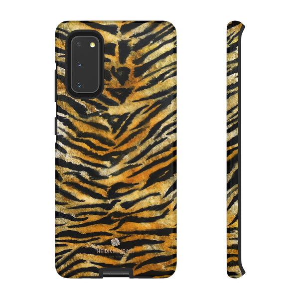 Tiger Stripe Print Phone Case, Animal Print Tough Designer Phone Case -Made in USA-Phone Case-Printify-Samsung Galaxy S20-Glossy-Heidi Kimura Art LLC