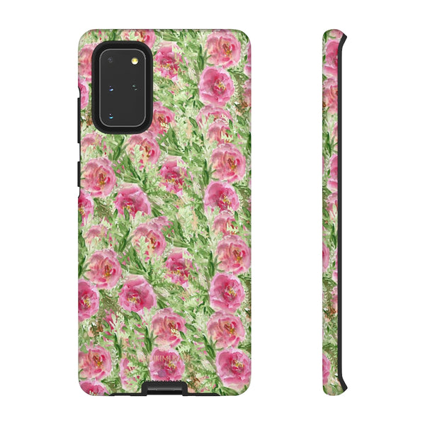 Garden Rose Phone Case, Roses Floral Print Tough Designer Phone Case -Made in USA-Phone Case-Printify-Samsung Galaxy S20+-Matte-Heidi Kimura Art LLC