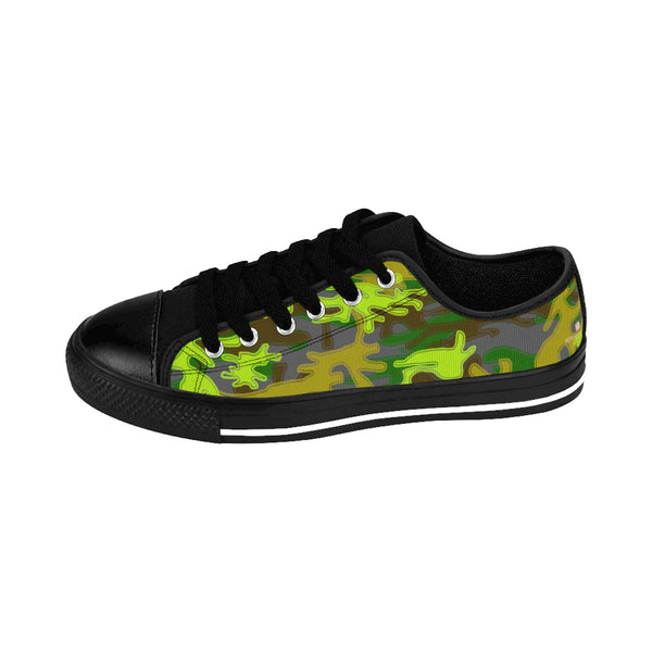 Gray Green Camouflage Military Print Premium Men's Low Top Canvas Sneakers Shoes-Men's Low Top Sneakers-Black-US 9-Heidi Kimura Art LLCGray Green Camouflage Military Army Print Designer Men's Running Low Top Sneakers Shoes, Men's Designer Camo Print Tennis Shoes (US Size 7-14)Gray Green Camo Men's Sneakers, Gray Green Camouflage Military Army Print Designer Men's Running Low Top Sneakers Shoes, Men's Designer Camo Print Tennis Shoes (US Size 7-14)