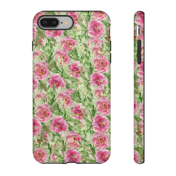 Garden Rose Phone Case, Roses Floral Print Tough Designer Phone Case -Made in USA-Phone Case-Printify-iPhone 8 Plus-Glossy-Heidi Kimura Art LLC