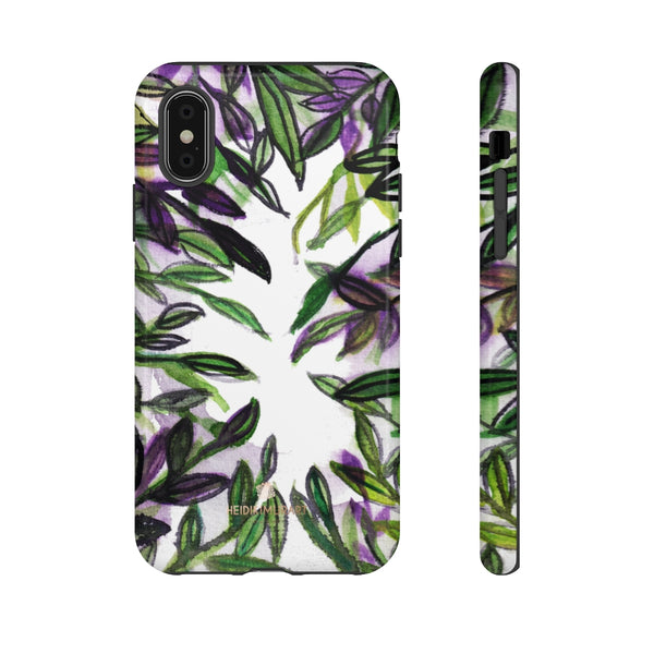 Tropical Leave Print Tough Cases, Designer Phone Case-Made in USA-Phone Case-Printify-iPhone X-Glossy-Heidi Kimura Art LLC