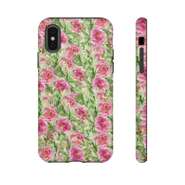 Garden Rose Phone Case, Roses Floral Print Tough Designer Phone Case -Made in USA-Phone Case-Printify-iPhone X-Glossy-Heidi Kimura Art LLC