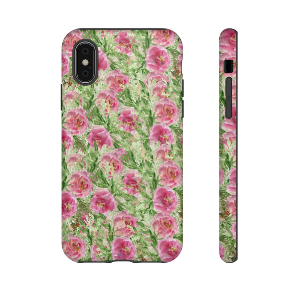 Garden Rose Phone Case, Roses Floral Print Tough Designer Phone Case -Made in USA-Phone Case-Printify-iPhone X-Matte-Heidi Kimura Art LLC