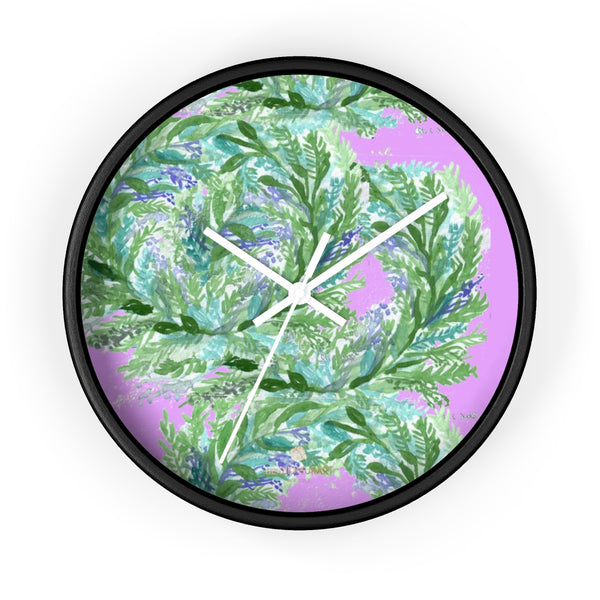 Girlie Soft Purple Pink French Lavender Indoor 10 in. Dia. Wall Clock - Made in USA-Wall Clock-10 in-Black-White-Heidi Kimura Art LLC