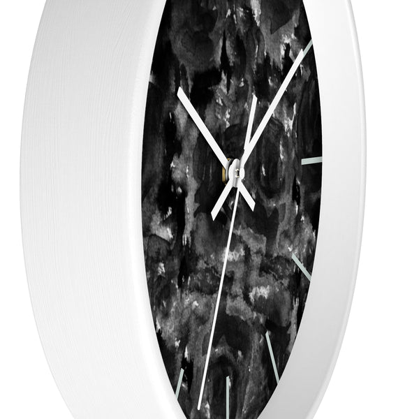Katsuo Mysterious Black Zombie Rose 10 inch Diameter Wall Clock - Made in USA