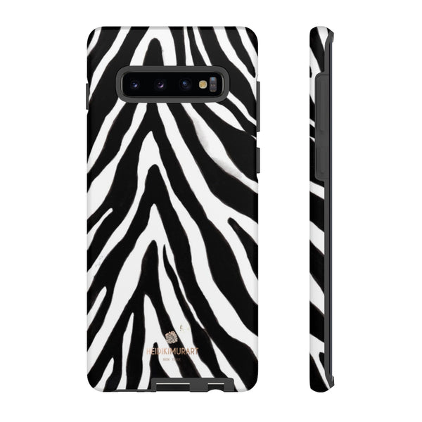 Zebra Stripe Phone Case, Animal Print Tough Designer Phone Case -Made in USA-Phone Case-Printify-Samsung Galaxy S10 Plus-Matte-Heidi Kimura Art LLC
