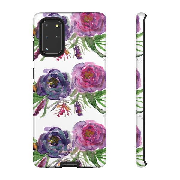 Pink Floral Print Phone Case, Roses Tough Designer Phone Case -Made in USA-Phone Case-Printify-Samsung Galaxy S20+-Glossy-Heidi Kimura Art LLC