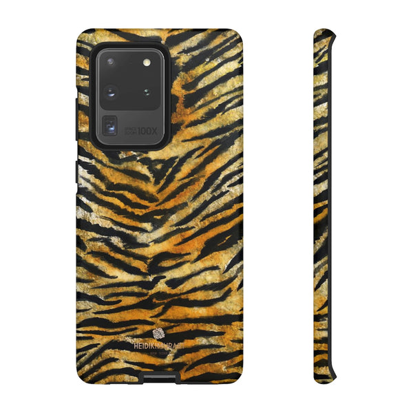 Tiger Stripe Print Phone Case, Animal Print Tough Designer Phone Case -Made in USA-Phone Case-Printify-Samsung Galaxy S20 Ultra-Matte-Heidi Kimura Art LLC