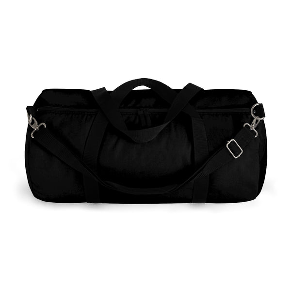 "Black Solid Color All Day Small 20"" Long Or Large Size 23"" Long Duffel Bag-Duffel Bag-Heidi Kimura Art LLC"