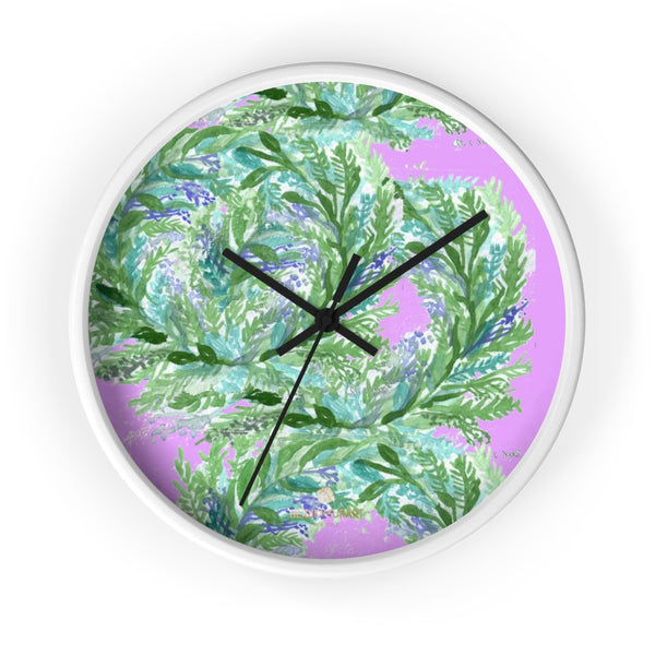 Girlie Soft Purple Pink French Lavender Indoor 10 in. Dia. Wall Clock - Made in USA-Wall Clock-10 in-White-Black-Heidi Kimura Art LLC