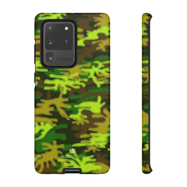 Green Camouflage Phone Case, Army Military Print Tough Designer Phone Case -Made in USA-Phone Case-Printify-Samsung Galaxy S20 Ultra-Glossy-Heidi Kimura Art LLC