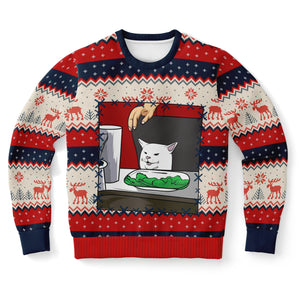 Unisex Christmas Sweatshirt-Fashion Sweatshirt - AOP-Subliminator-XS-Heidi Kimura Art LLC