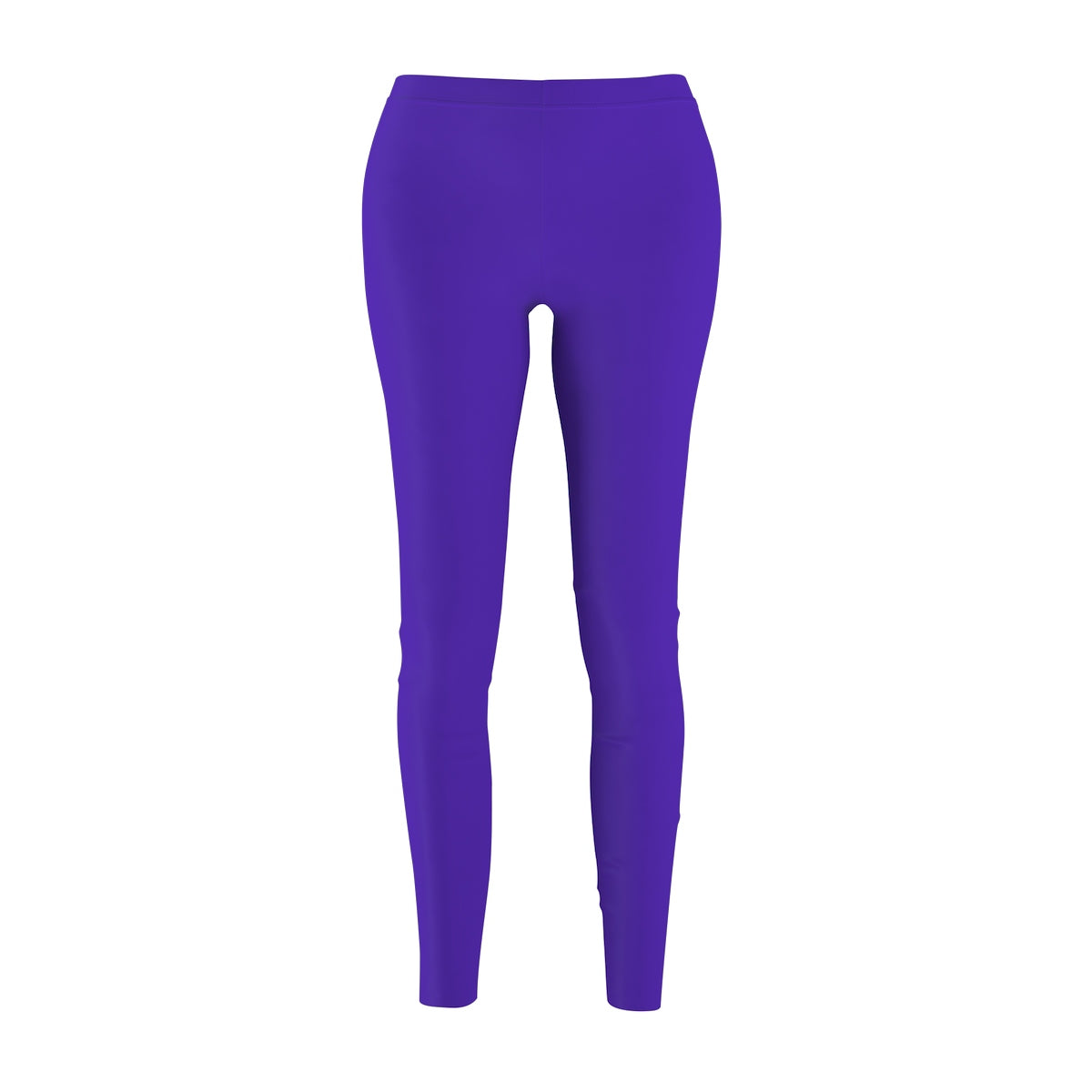 Iris Bright Purple Classic Solid Color Women's Casual Leggings - Made in USA-Casual Leggings-M-Heidi Kimura Art LLC