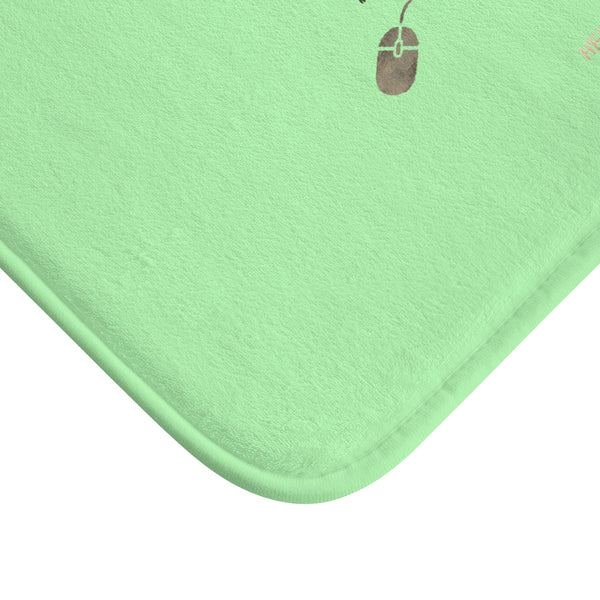 "Light Green ""Good Idea Becomes A Great Idea When You Let It Out"", Inspirational Bath Mat- Printed in USA-Bath Mat-Heidi Kimura Art LLC"