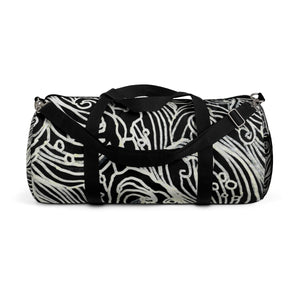 Japanese Waves All Day Small Or Large Size Gym Designer Duffel Bag, Made in USA-Duffel Bag-Small-Heidi Kimura Art LLC