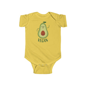 Avocado Baby Unisex Cotton Bodysuit, Infant Fine Jersey Regular Fit Clothes- Made in UK-Infant Short Sleeve Bodysuit-Butter-12M-Heidi Kimura Art LLC