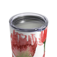 Chihiro Thousands Spring Season Red Poppy Flower Tumbler 10oz - Heidi Kimura Art LLC