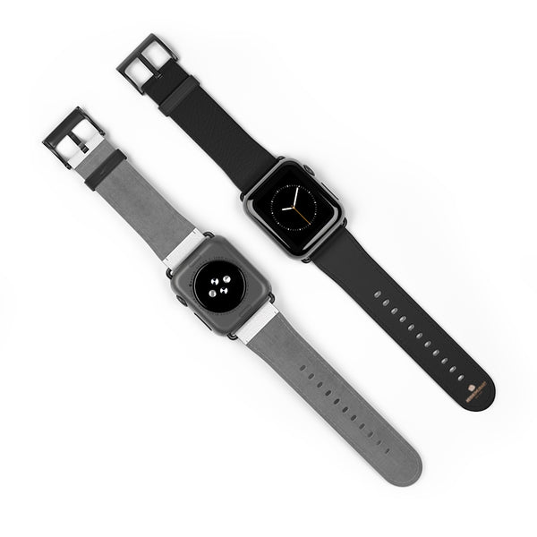 Black Solid Color Print 38mm/ 42mm Watch Band Strap For Apple Watches- Made in USA-Watch Band-Heidi Kimura Art LLC Black Apple Watch Band, Black Solid Color Print 38 mm or 42 mm Premium Best Printed Designer Top Quality Faux Leather Comfortable Elegant Minimalist Smart Watch Band Strap, Suitable for Apple Watch Series 1, 2, 3, 4 and 5 Smart Electronic Devices - Made in USA