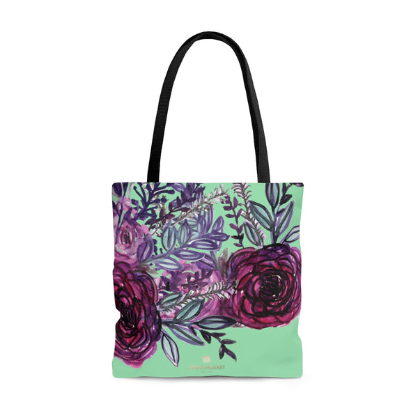 Green Red Rose Flower Floral Designer S, M, L Size Premium Tote Bag - Made in USA-Bags-Large-Heidi Kimura Art LLC