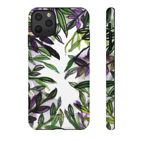 Tropical Leave Print Tough Cases, Designer Phone Case-Made in USA-Phone Case-Printify-iPhone 11 Pro Max-Matte-Heidi Kimura Art LLC
