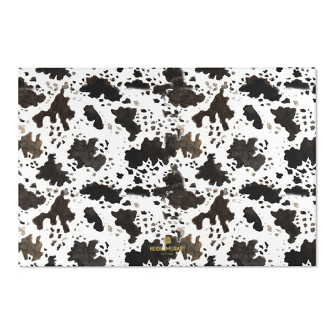 "Farm Cow Animal Print Designer 24x36, 36x60, 48x72 inches Area Rugs - Printed in USA-Area Rug-72"" x 48""-Heidi Kimura Art LLC"