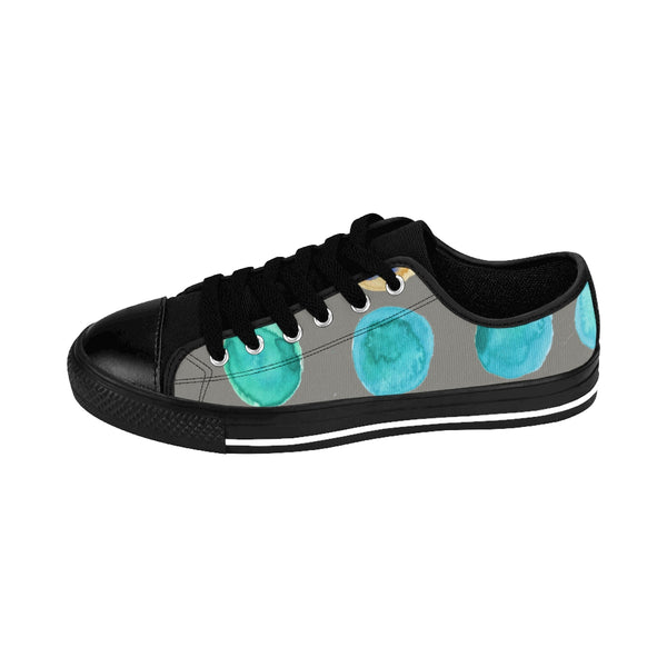 Colorful Abstract Polka Dots Print Designer Women's Low Top Sneakers (US Size: 6-12)-Women's Low Top Sneakers-Heidi Kimura Art LLC