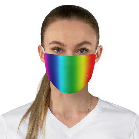 "Rainbow Gay Pride Face Mask, Adult Modern Fabric Face Mask-Made in USA-Accessories-Printify-One size-Heidi Kimura Art LLC Rainbow Gay Pride Face Mask, Colorful Gay Pride Designer Fashion Face Mask For Men/ Women, Designer Premium Quality Modern Polyester Fashion 7.25"" x 4.63"" Fabric Non-Medical Reusable Washable Chic One-Size Face Mask With 2 Layers For Adults With Elastic Loops-Made in USA"