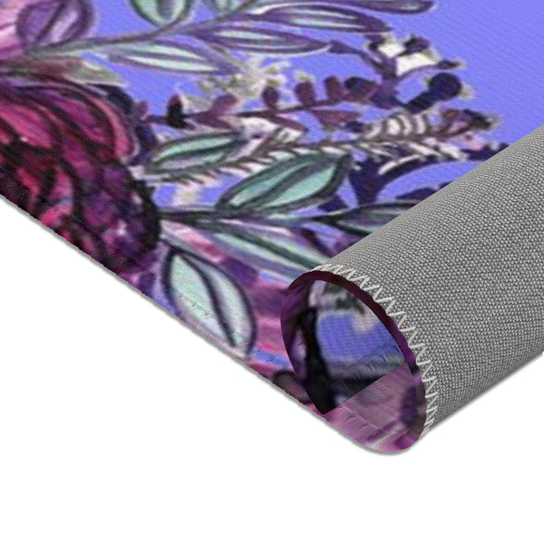 Red Rose Purple Floral Print Designer 24x36, 36x60, 48x72 inches Area Rugs- Printed in the USA-Area Rug-Heidi Kimura Art LLC