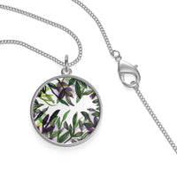 Tropical Island Single Loop Sterling Silver or 18K Gold-plated Necklace - Made in USA - Heidi Kimura Art LLC