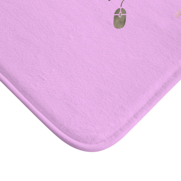 "Pink ""Good Idea Becomes A Great Idea When You Let It Out"", Inspirational Bath Mat- Printed in USA-Bath Mat-Heidi Kimura Art LLC"