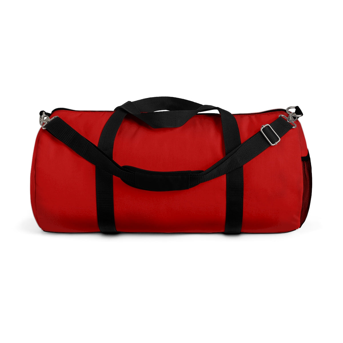 Red Solid Color All Day Small Or Large Size Duffel Bag, Made in USA-Duffel Bag-Small-Heidi Kimura Art LLC