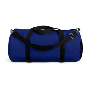 Military Blue Solid Color All Day Small Or Large Size Duffel Bag, Made in USA-Duffel Bag-Small-Heidi Kimura Art LLC
