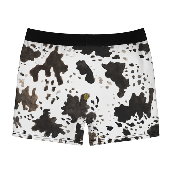 Cow Farm Animal Print Sexy Hot Men's Boxer Briefs Underwear - (US Size: XS-3XL)-Men's Underwear-Heidi Kimura Art LLC