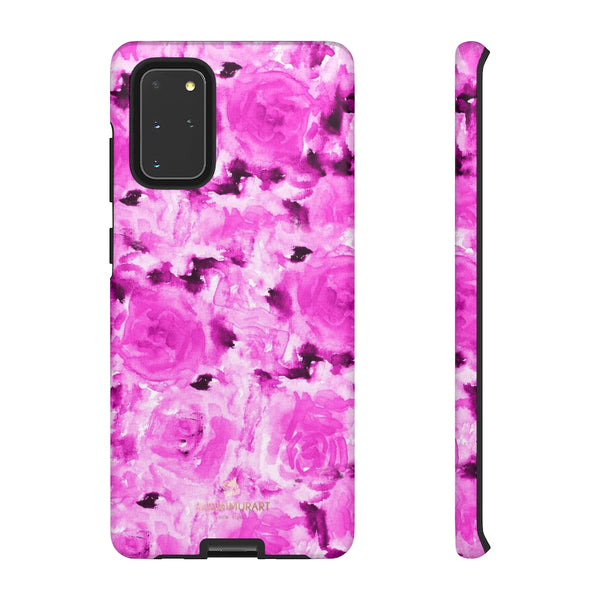 Hot Pink Floral Print Phone Case, Abstract Print Tough Cases, Designer Phone Case-Made in USA-Phone Case-Printify-Samsung Galaxy S20+-Matte-Heidi Kimura Art LLC