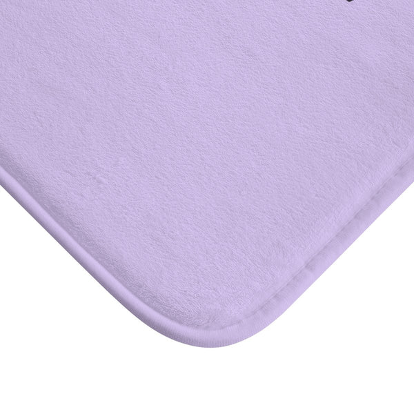 "Light Purple ""Be Your Own Hero"" Inspirational Quote Microfiber Bath Mat- Printed in USA-Bath Mat-Heidi Kimura Art LLC"