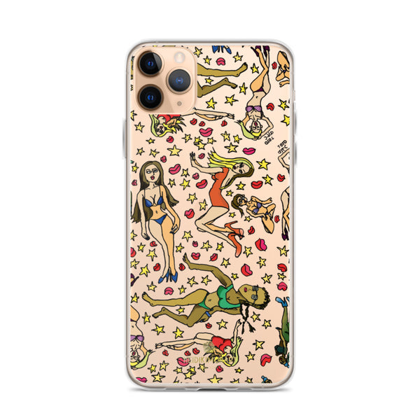 Bad Girl's iPhone Case, Cartoon Art Fun Colorful Artistic Phone Case, iPhone X | XS | XR | XS Max | 8 | 8+ | 7| 7+ Phone Case- Printed in USA/EU/MX