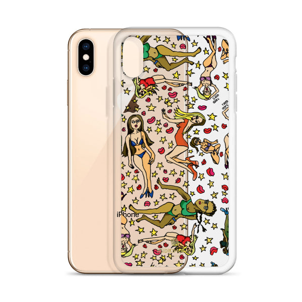 Bad Girl's iPhone Case, Cartoon Art Fun Colorful Artistic Phone Case-Made in USA/EU/MX