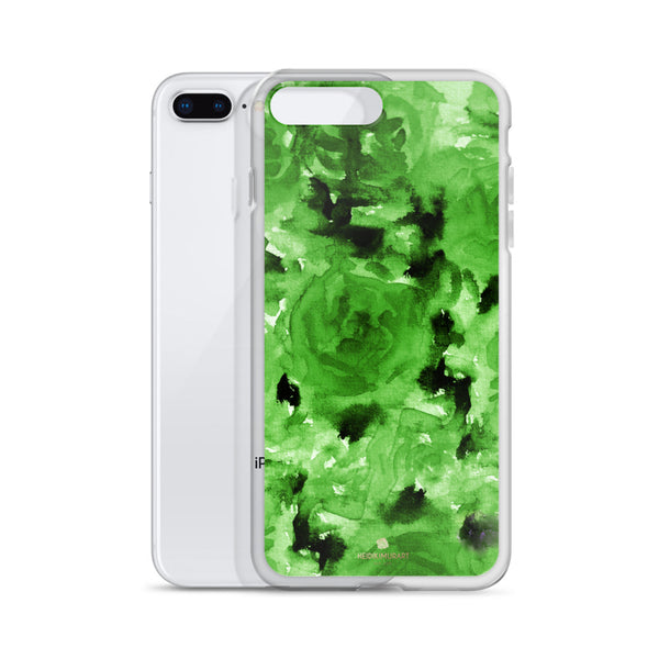 Emerald Green Floral Rose, iPhone X | XS | XR | XS Max | 8 | 8+ | 7| 7+ |6/6S | 6+/6S+ Case- Made in USA-Phone Case-Heidi Kimura Art LLC