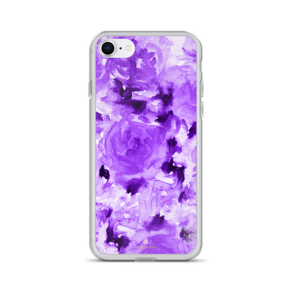 Royal Purple Rose Floral, iPhone X | XS | XR | XS Max | 8 | 8+ | 7| 7+ |6/6S | 6+/6S+ Case- Made in USA-Phone Case-iPhone 7/8-Heidi Kimura Art LLC