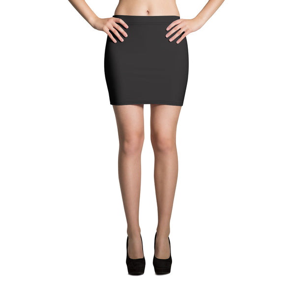Fumiyo Solid Color Print Stretchy Mid Thigh Women's Mini Skirt - Made in USA/ EU (Size XS-XL)