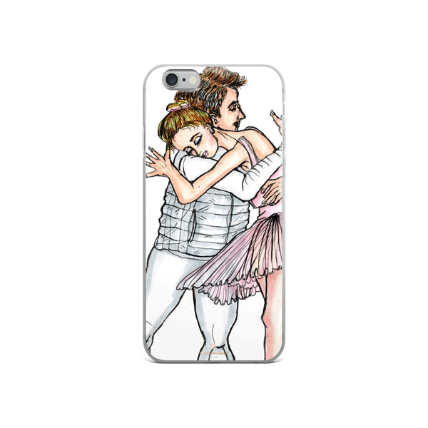 Dancing Ballet Couple, iPhone X | XS | XR | XS Max | 8 | 8+ | 7| 7+ |6/6S | 6+/6S+ Case- Made in USA-Phone Case-iPhone 6/6s-Heidi Kimura Art LLC