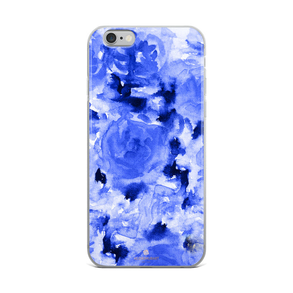 Sapphire Blue Floral Rose, iPhone X | XS | XR | XS Max | 8 | 8+ | 7| 7+ |6/6S | 6+/6S+ Case-Phone Case-iPhone 6 Plus/6s Plus-Heidi Kimura Art LLC